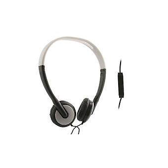 UMA - Lightweight Universal Stereo Headphones 3.5mm - Black/Silver