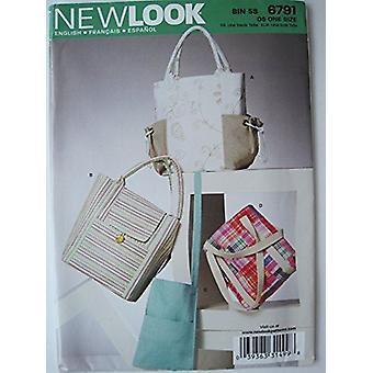 New Look Sewing Pattern 6791 Bags Handbags