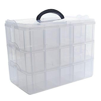 Clear Plastic Storage Box For Washi Tape Stationery Organizer Cosmetics Tape