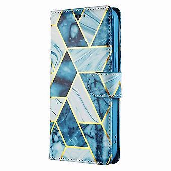 Folio Case Marble pattern for Samsung Galaxy A20e - blue