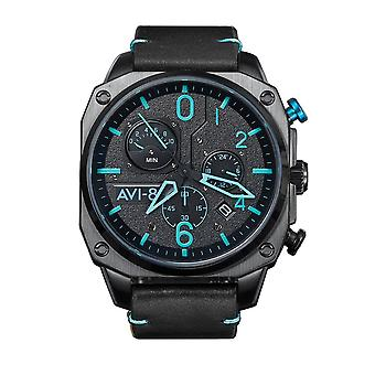 AVI-8 AV-4052-05 Hawker Hunter Leather Strap Wristwatch