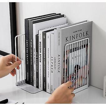 Bookend Buch Stand Unterstützung einfache Eisen Desktop Non Slip Rack Regal Halter