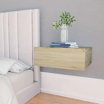 vidaXL Hängande sängbord Sonoma Oak 40 x 30 x 15 cm Spånskiva