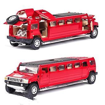 1:32 seos hummeri limusiini metalli auton malli(punainen)