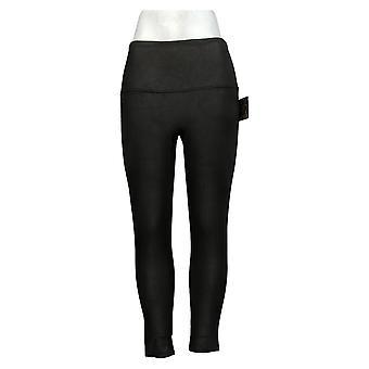 DG2 By Diane Gilman Slim And Sleek Coated Knit Legging Black 725008