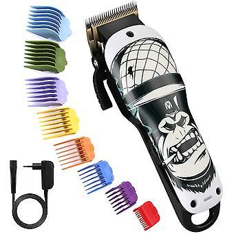 FengChun Pro Haarschneider, Gorilla Haarpflege-Kits mit 8 Fhrungskmmen, 2000mAh