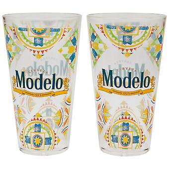 Modelo Especial Camp 16 oz Pint Glass 2-Pack