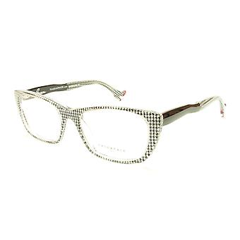 Face A Face Bocca Sexy 2 Col AT17 Houndstooth Black Red Eyeglasses Made in Italy