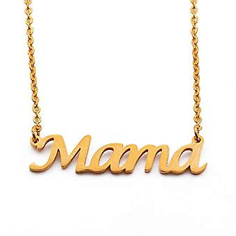 KL Mama - 18-carat Gold Plated Necklace, with Custom Name, Adjustable from 16 to 19 cm