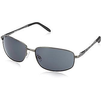 Burgmeister - نظارات شمسية SBM119-181 مستطيلة، رجالية، رمادية