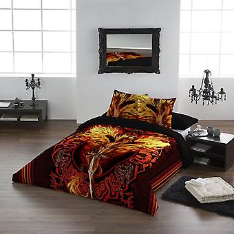 DRAGON FLAME BLADE - Duvet and Pillows Covers Set / Size fit / Queensize