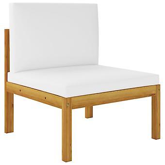 vidaXL 2 stuks. Tuin lounge set met pads acacia massief hout