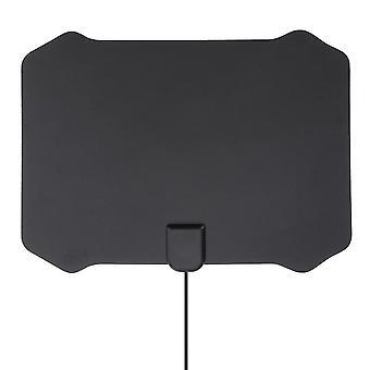 For Flat Digital Indoor HDTV HD TV Antenna Fox with Amplifier 50 Miles Range VHF UHF WS31518