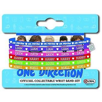 One Direction Multi-coloured Gummy Band Set