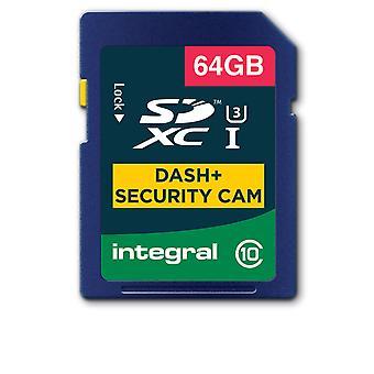 Integral 64GB SD-kort SDXC Cl10 U3 R-95 W-60 Mb/S Dash & Security Cam