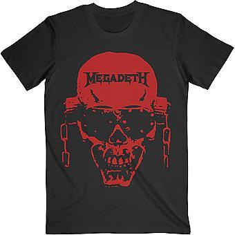 Megadeth - Vic Hi-Contrast Punainen Unisex Suuri T-paita - Musta