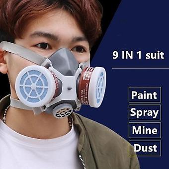 Suoja hengityssuojain, maalaushitsaus, savukaasunaamari