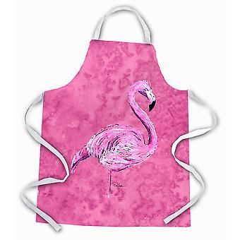 Tesoros de Caroline 8875APRON Flamingo en delantal rosa, grande, multicolor