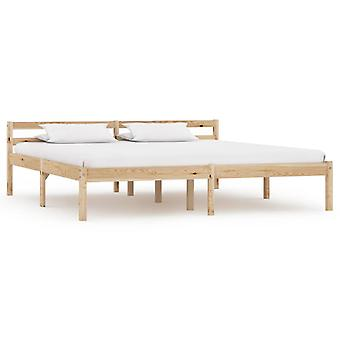"vidaXL מסגרת מיטה אורן עץ מלא 160×200 ס""מ"