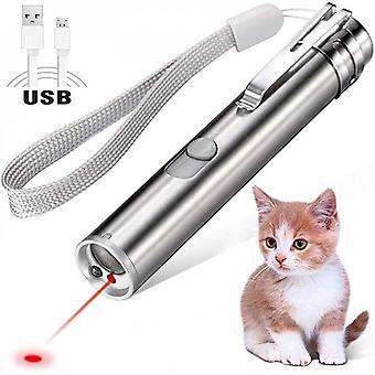 Usb Recarregável Pet Brinquedos Gato Treinamento Laser Ponteiro laser com lanterna led