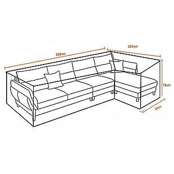 Cobertura de pó de sofá do sofá do jardim ao ar livre (222 * 286 * 82)