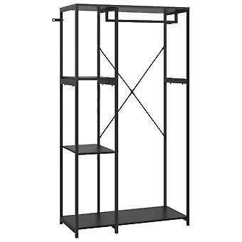 vidaXL Armario Negro 90x40x167 cm Metal y Aglomerado