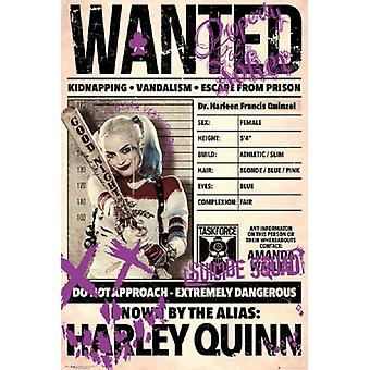 Harley Quinn - Wanted Poster Poster Print