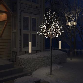 vidaXL شجرة عيد الميلاد 600 المصابيح المصابيح البيضاء الدافئة أزهار الكرز الأبيض 300 سم