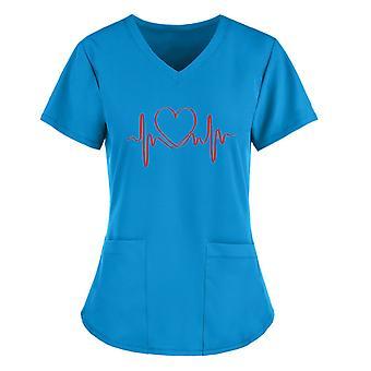 Dámske topy Love Type S krátkym rukávom Topy s krátkym rukávom Pracovné tlačové tričko
