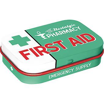 Førstehjelp Nostalgisk Sukker Gratis Mynte Tinn - Cracker Filler Gift