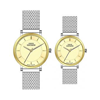 Carlo Cantinaro Two-Tone Stainless Steel CC3001SM005 Women's Watch