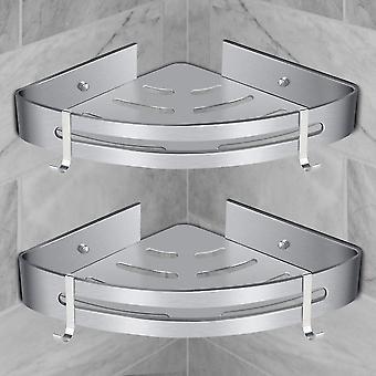 Eckdusche Regal Badezimmer Regal ohne Bohrkorb Duschaufbewahrung Aluminium Wand Duschregal