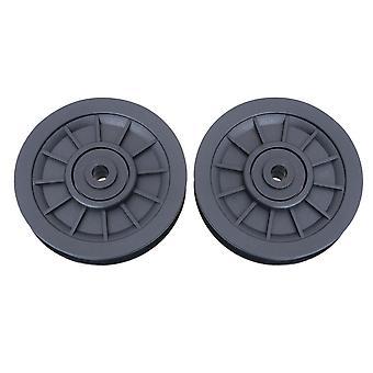 2pcs Universal Bearing Pulley Wheel Fitness Equipment Teil wearproof Pulley Ersatzteile für Gym Fitness Schwarz