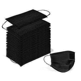 100 Pcs Disposable 3 Ply Earloop Face Masks, Suitable For Home, School, Office And Outdoors