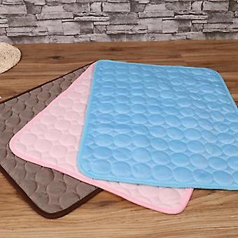 Pet Soft Summer Cooling Pad Blanket Summer Car Seat Ice Silk Pad