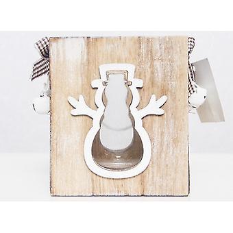 Ozdoby świąteczne Boże Narodzenie Kreatywne świąteczne świeczniki Boże Narodzenie Drewniane przenośne lampy przednie