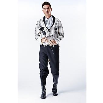 Halloween eurooppalainen ja amerikkalainen mies aave sulhanen vampyyri leikkii univormut Halloween Party Kauhu Mies Smokki Puku