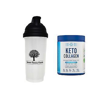Seven Trees Farm KIT mit 2 Produkten | 1 x Shaker 700ml, 1 x Applied Nutrition Keto Kollagen Unflavoured 325g, hydrolysiertes Kollagen, zuckerfrei, gesunde Haut, Nägel, Haare, Knochen