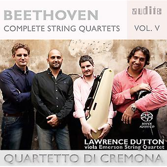 Beethoven, L. / Quartetto Di Cremona - Beethoven: Complete String Quartets 5 [SACD] USA import