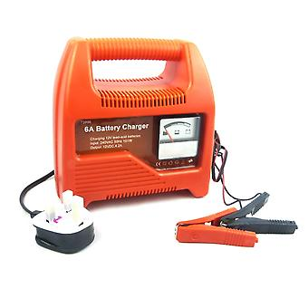 12V Car Battery Charger 6 AMP Compact Portable Battery Charger for Cars & Vans