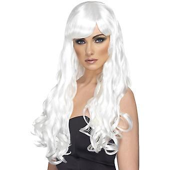 Pragnienie wig biały kręcone peruki peruka głowa zombie