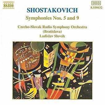 D. Shostakovitshin - Šostakovitš: Sinfoniat nro 5 & 9 [CD] USA tuonti
