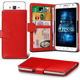 ONX3 Samsung S4 Mini I9195I / S4 Mini Plus læder Universal foråret klemme tegnebog tilfældet med kortholderen Slot og pengesedler lomme-rød