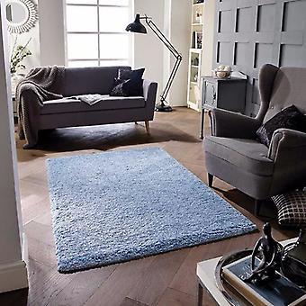 Mjukhet Denim blå rektangel mattor Plain/nästan slätt mattor