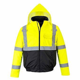 sUw Mens Hi-Vis Essential Safety Werkkleding BomberJack