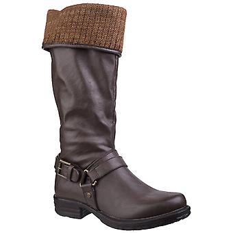 Divaz Womens Monroe Tall Boot Brown
