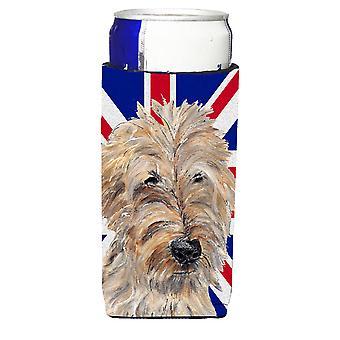 Golden Doodle mit englischen Union Jack britische Flagge Ultra Getränke Isolatoren für