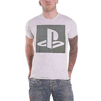 Official Playstation T Shirt Classic vintage Logo new Mens Grey