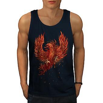 Mythical Fire Bird Men NavyTank Top | Wellcoda