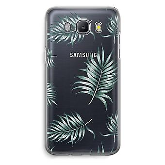 Samsung Galaxy J5 (2016) Transparent Case (Soft) - Simple leaves